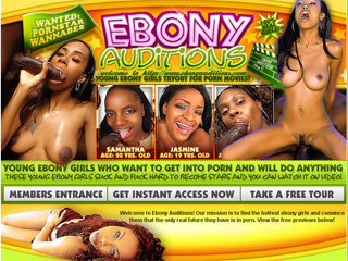 Ebony Auditions - Ebony Girls Who Want To Get Into Porn And Will Do Anything