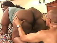 Lovely ebony gets mouthful of sperm
